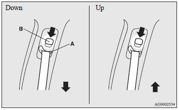 The seat belt anchor height can be adjusted.