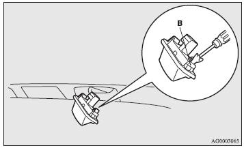 2. Insert a minus screwdriver with the end covered with a cloth or other object